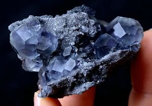 China-Newly-DISCOVERED-RARE-PURPLE-FLUORITE-CRYSTAL-MINERAL-SPECIMEN-45-49g