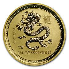 2000 1/4 oz Gold Australian Perth Mint Lunar Year of the Dragon Coin - SKU #8988