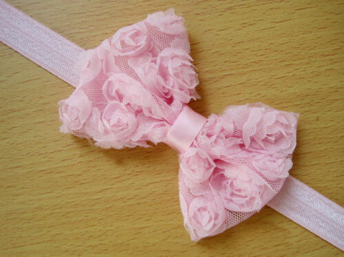 10 pcs Girl Baby Toddler Lace Flower Headband Hair Bow Band Headwear AccessorTPO