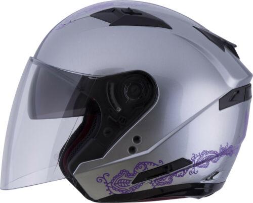 GMAX Women/'s OF-77 Eternal Open Face Motorcycle Helmet w// Drop Down Visor