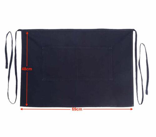 Raftaar® Premium Poly Cotton Two Pocket Bistro Waist Half Apron