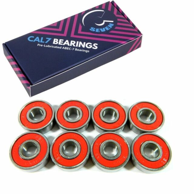 608zz Powell Mini Logo Bearings x 8 with Spacers Included Longboard