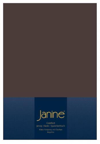 Janine Jersey Spannbetttuch Comfort Elastic 5002 Spannbettlaken 180x200 200x200