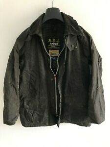 Mens-Barbour-Bedale-wax-jacket-Dark-Blue-coat-36-in-size-Small-Extra-Small-S