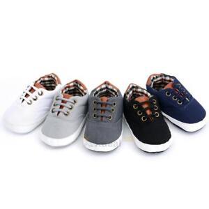 Newborn Baby Soft Sole Crib Shoes Infant Boy Girl Toddler Sneaker ... 41bb459e139e