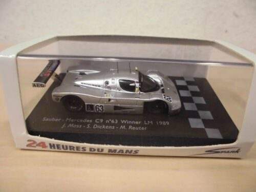 Sauber-Mercedes C9 #7 Winner Le Mans 1989 Mass//Dickens//Reut Spark 1:87 87LM89