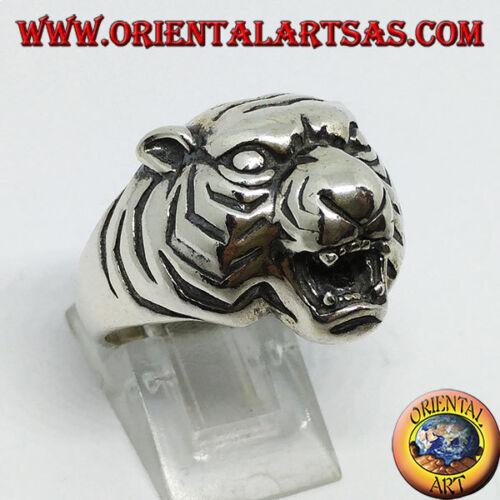 Anello in argento 925 ‰  Testa dei tigre