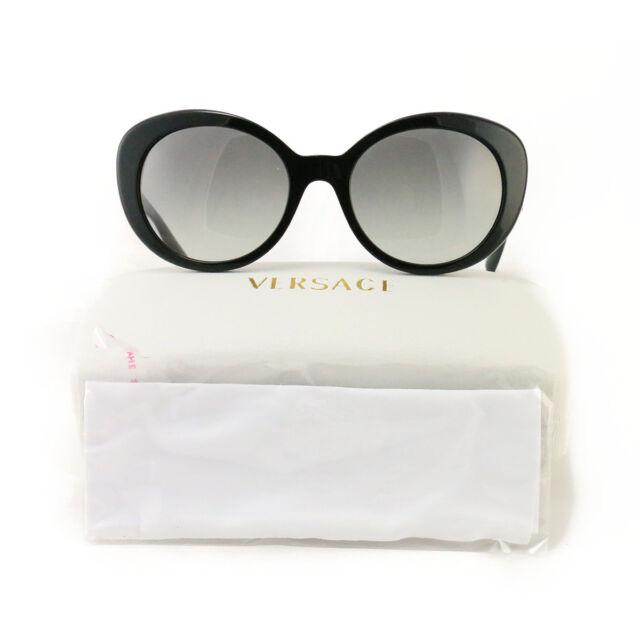 4f2732515d1 Versace Sunglasses VE 4318 Black Light Grey Gradient Women Sunglasses 55 20  140