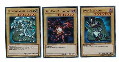 Yugioh lot BLUE-EYES WHITE DRAGON DARK MAGICIAN LC01-EN004 LC01-EN005 LC01-EN006