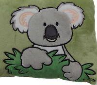 Koala Bear Throw Pillow Nici Wild Friends Adventure Green 16x9 Plush Embroidered