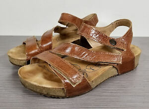 Details about Josef Seibel 'Tonga' Leather Sandal, Brown Leather, Womens Size 6 6.5 37