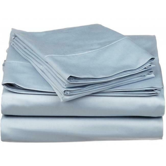 530 Thread Count Egyptian Cotton Twin XL Sheet Set Solid Light blueeeee