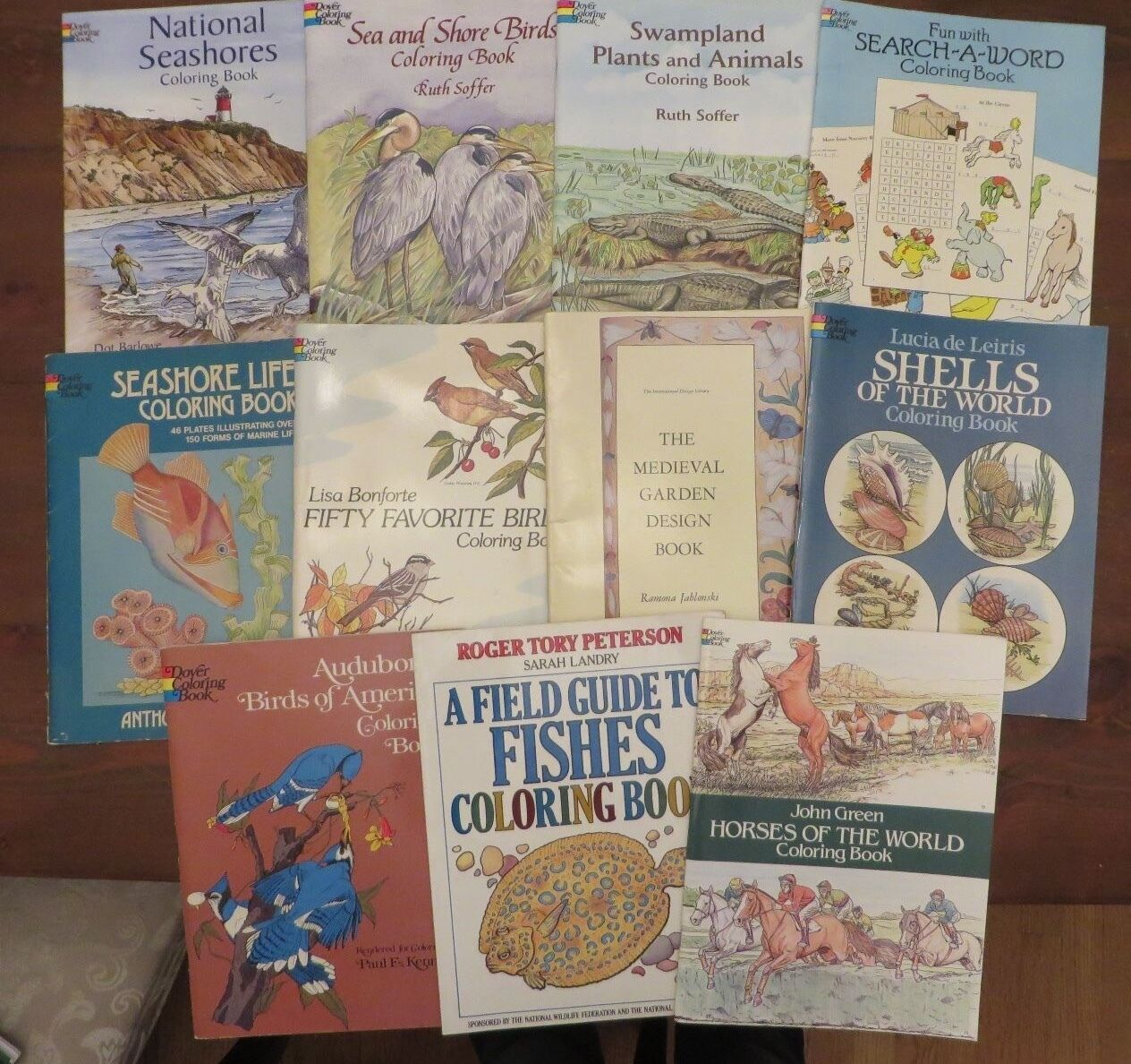 Lot 10 Dover Coloring Books Unused Nature Birds Swampland