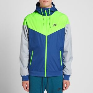 9f7c36e5 Image is loading NIKE-NEW-WINDRUNNER-WINDBREAKER-JACKET-BLUE-GREEN-GRAY-