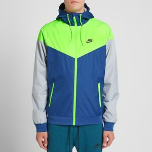 7f97fc8cc5 Image is loading NIKE-NEW-WINDRUNNER-WINDBREAKER-JACKET-BLUE-GREEN-GRAY-