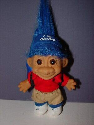 "Troll Doll 4 1//2/"" Russ Girl in Blue Swimsuit RED Hair NEW"