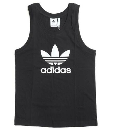 Adidas Men Originals Trefoil Shirts Jersey White Running Tank Top Shirt DV1508