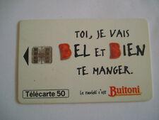PHONECARD TELECARTE PUBLICITE BUITONI ALIMENTATION