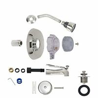 Brasscraft Mfg Mixet Mtr-5 Clr Complete Single Handle Tub And Shower Trim Kit - on sale