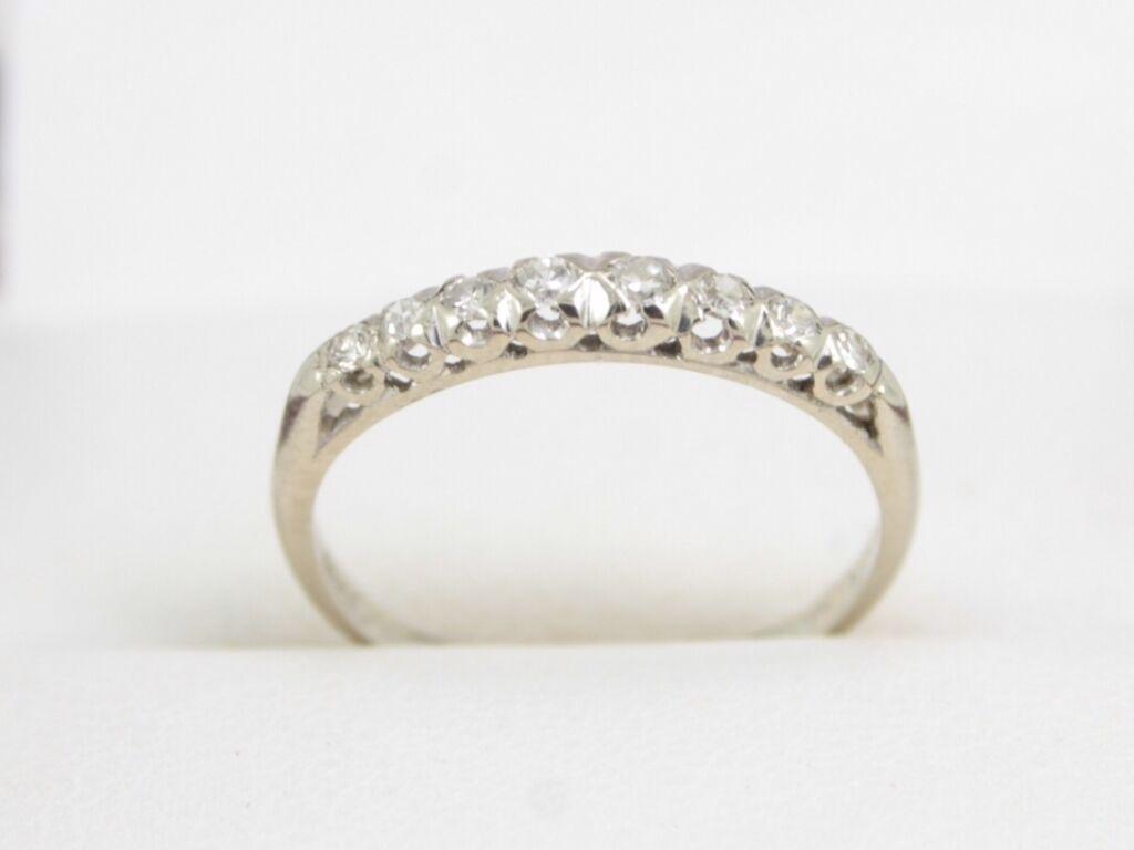 Diamond Eternity Ring 18ct White gold Ladies Engagement Size K 1 2 W5