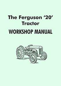 ferguson te20 tractor manual grey fergy ebay rh ebay co uk ferguson te20 workshop manual pdf ferguson te20 manual pdf