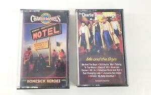 Charlie Daniels Band 2 Tape Lot Homesick Heroes & Me and the Boys Cassette Tapes