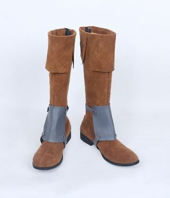 Flynn Rider Cosplay Boots Shoes Custom Made 59