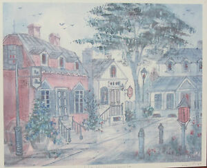 Lucretia-Restrepo-034-Old-Williamsburg-VA-034-Signed-Numbered-Framed-Watercolor-Print