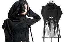 Schal Umhang Punk Rave Gothic schwarz Poncho Mütze black cape mittelalter COSFEE