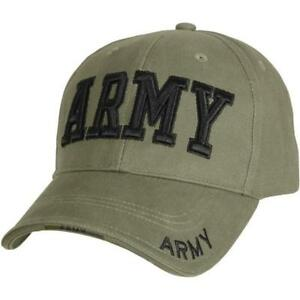 cad5742fc74 Rothco Deluxe Army Embroidered Low Profile Insignia Cap - 9508 Olive Drab