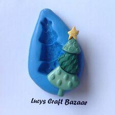 Silicone Mould Christmas Xmas Tree 3 Cake Decorating Flowerpaste Embellishments