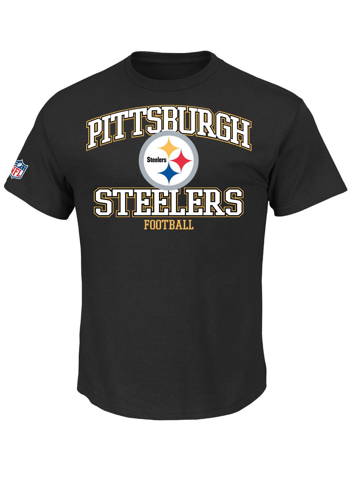 NFL Football Pittsburgh Pittsburgh Pittsburgh Steelers T-Shirt Tee Greatness schwarz bd0171