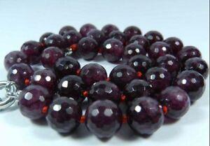 8mm-Faceted-Garnet-Red-Gemstone-Round-Beads-Necklace-18-034-JN181