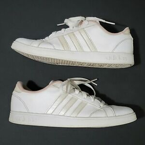 Details about 2017 Women's adidas Neo Comfort Footbed White Pink Tennis Casual Shoes Size 5.5