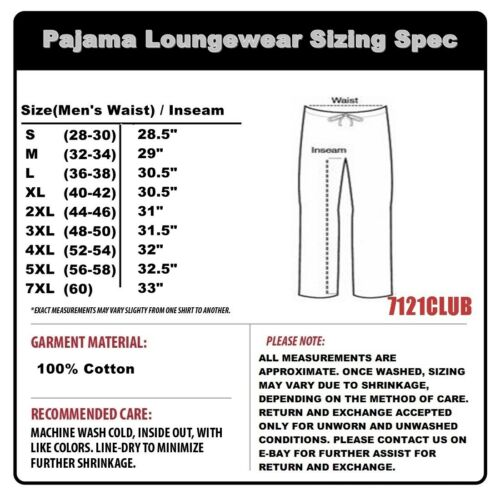 PRO CLUB PAJAMAS PANTS MENS PJ BOTTOM COTTON LOUNGE SLEEPWEAR BIG AND TALL S-7XL