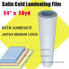 54 X 50yd Roll Satin Cold Laminating Film Laminating Rolls Sheets 315 Mil