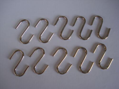 """Lot de 12 crochets en S /""""esse/"""" en fil longueur 26mm"""