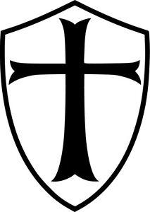 Templar-Shield-Vinyl-Sticker-Decal-Freemason-Knights-Crusade-Choose-Size-amp-Color