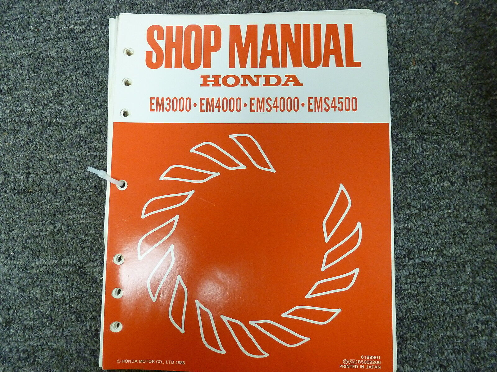 honda em3000 4000 ems4000 4500 generator service repair shop manual rh ebay com GCV160 Service Manual Honda Motorcycle Service Manual