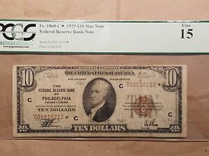 1929-10-Federal-Reserve-Bank-Star-Note-Philadelphia-Fr-1860-B-PCGS-Fine-15
