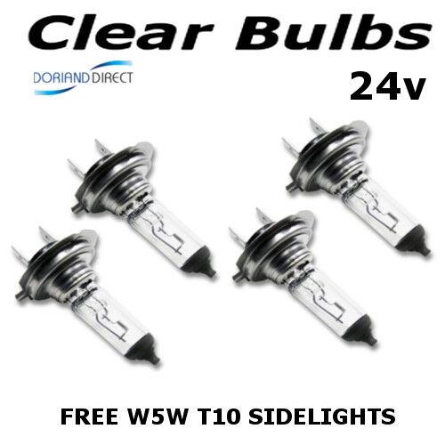 4 x H7 24V 70W PX26d CHIARA ALOGENA HEADLIGHT Bulbs automezzi pesanti//Camion Bus Furgone LGV Coach