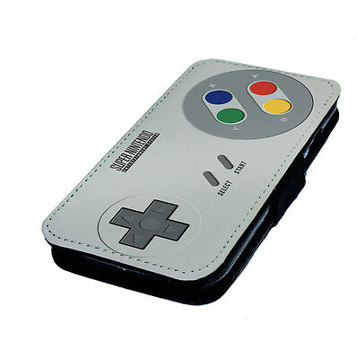 Retro Controller Printed Faux Leather Flip Phone Cover Case