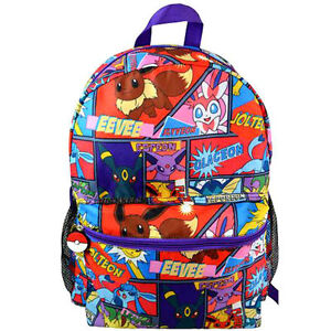Image is loading Backpack-16-034-Multi-Compartment-Pokemon-Comic-Print- 1f58a952ca133