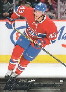 2015-16-Upper-Deck-Hockey-524-Daniel-Carr-YG-RC-Montreal-Canadiens