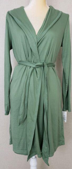 Gilligan & O'Malley Women's Robe Green Long Slv Sleepwear Pioneer Sage Size XS/S