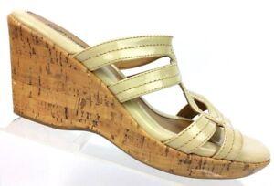 Sofft-Euro-Soft-Crystal-Ivory-Cork-Wedge-Slide-Sandals-3110212-Women-039-s-9-M