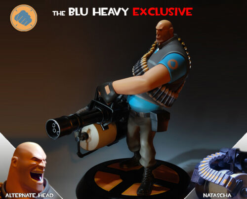 Gaming Heads Team Fortress 2 The Blu Heavy Exclusive Statue MINT IN BOX