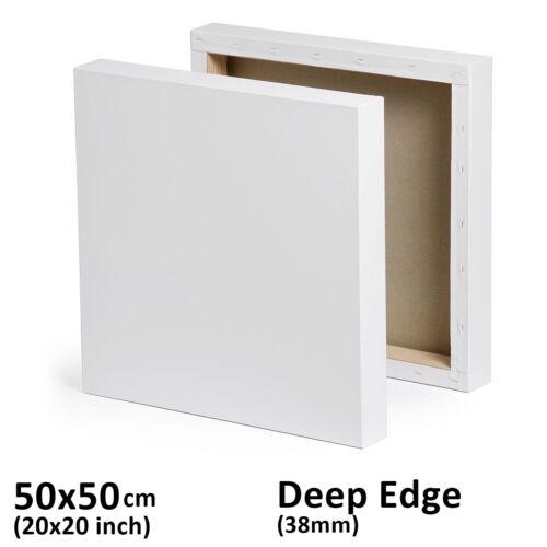 "Acrylic//oil paint Blank Deep Edge Stretched Canvas Multi-Frames 50x50cm 20x20"""
