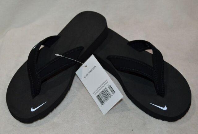 Nike Women's Celso Girl Black/White Thong Sandals 314870-011 Size 7/8/9/10 NWB