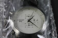 NEW U-Boat IFO Chrono black Leather Strap Mens Watch 309 MSRP 2200.00